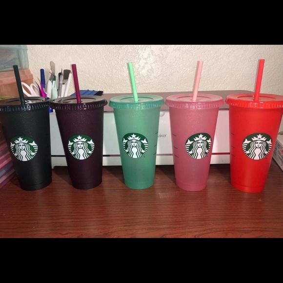 Holiday Starbucks 2020 glitter cups